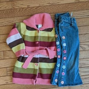 Gymboree Sweater and Matching Jeans